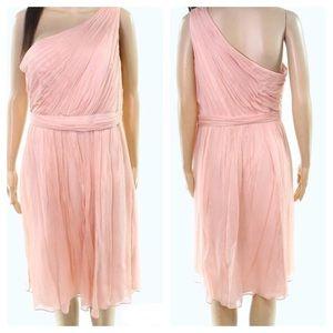 J.crew Blush One Shoulder Dress